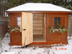 4x6 sauna with dress room