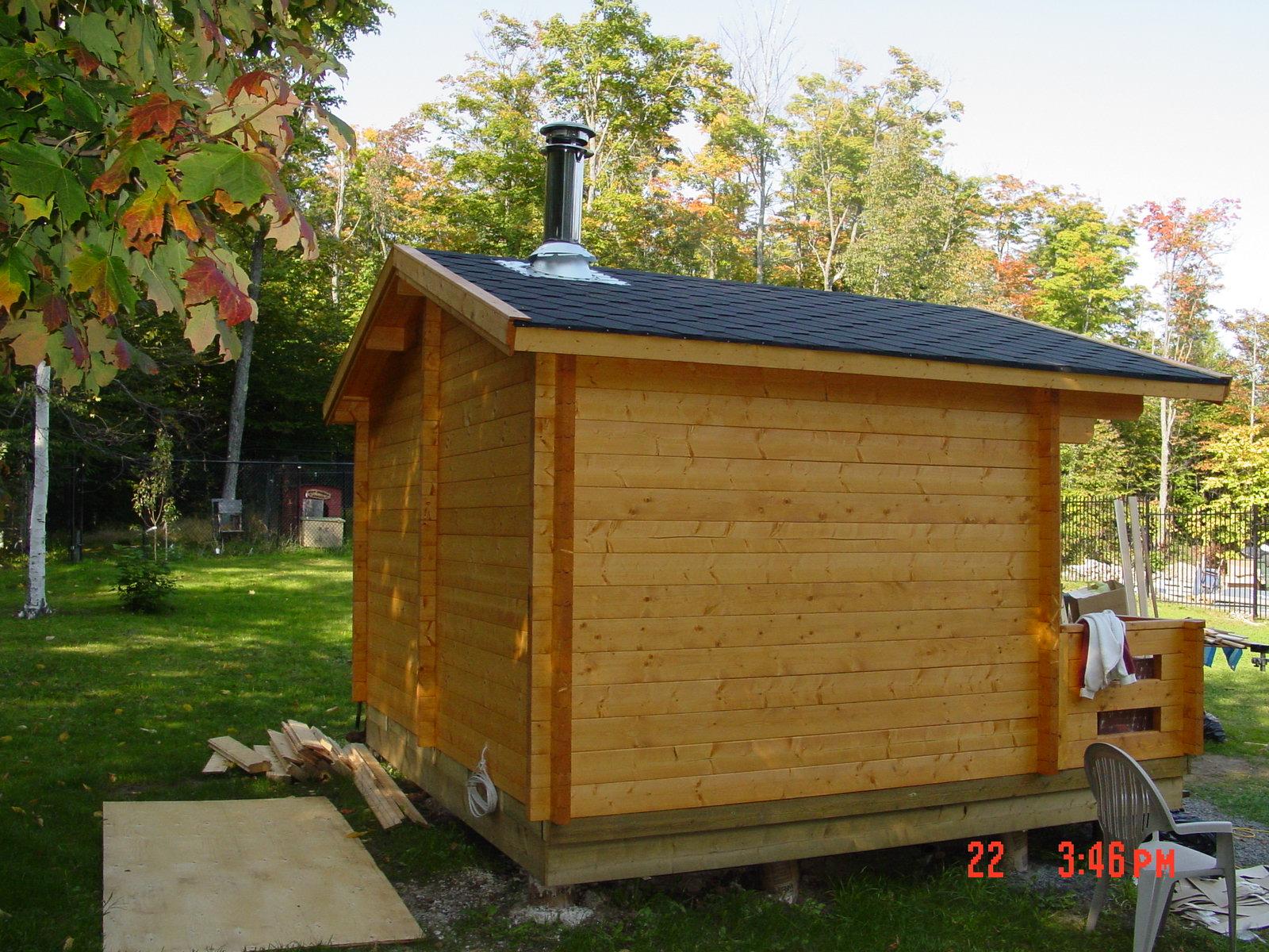 Advance project outdoor sauna dreamsauna dreamsauna for Build your own sauna outdoor
