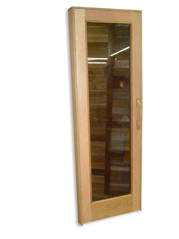Sauna door custom made glass type f dreamsauna dreamsauna for Decorative window glass types