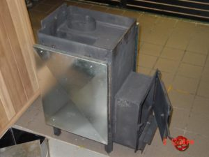 Standard wood burning stove with neck