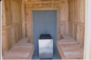 Outdoor sauna affordable project